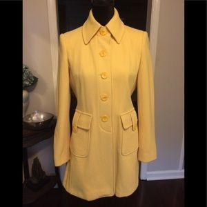 Calvin Klein Yellow Top Coat